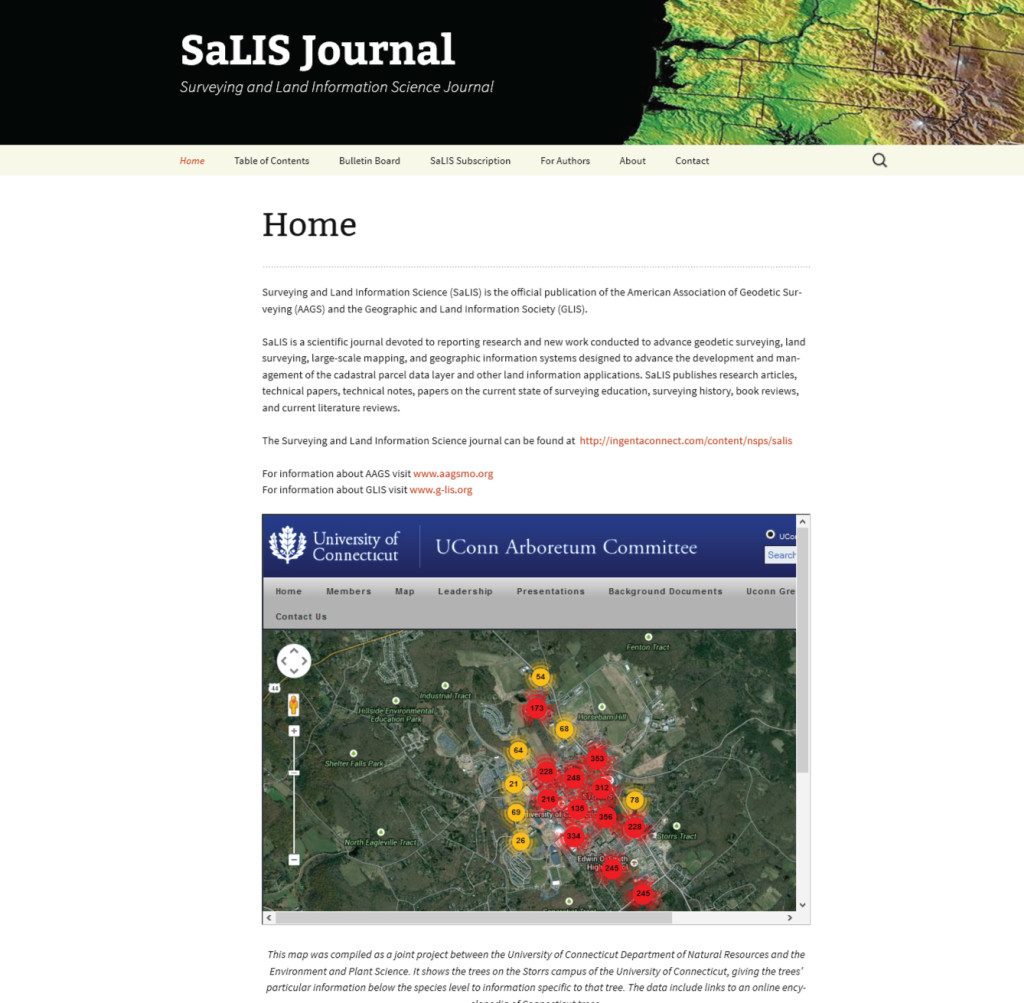 SALIS Website Homepage